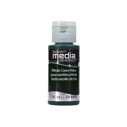 DecoArt Media Fluid Acrylics - Phthalo Green-Yellow