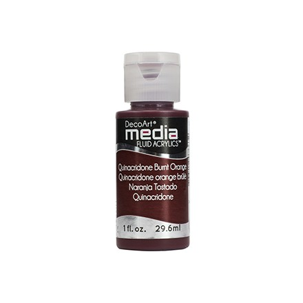 DecoArt Media Fluid Acrylics - Quinacridone Burnt Orange
