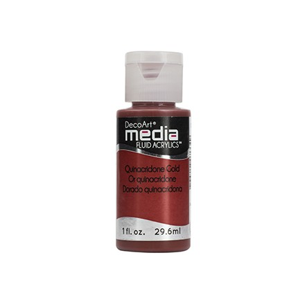 DecoArt Media Fluid Acrylics - Quinacridone Gold
