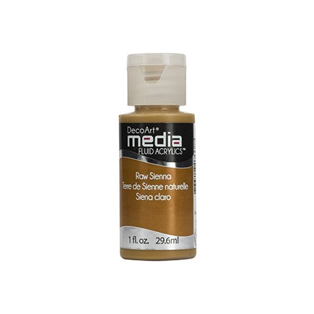 DecoArt Media Fluid Acrylics - Raw Sienna