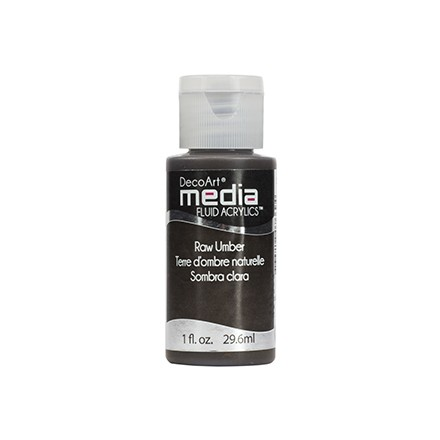 DecoArt Media Fluid Acrylics - Raw Umber