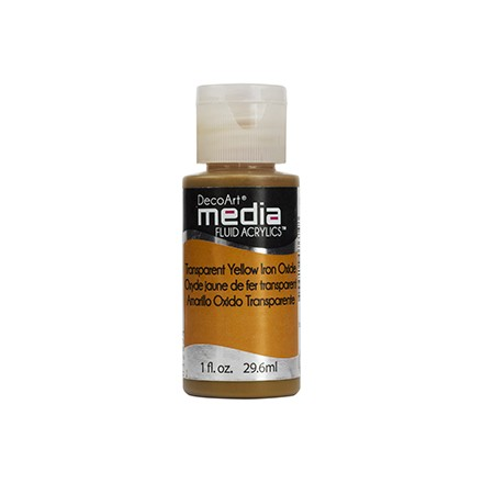 DecoArt Media Fluid Acrylics - Transparent Yellow Iron Oxide