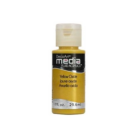 DecoArt Media Fluid Acrylics - Yellow Oxide