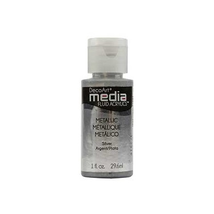 DecoArt Media Fluid Acrylics - Metallic Silver