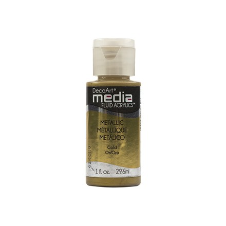 DecoArt Media Fluid Acrylics - Metallic Gold