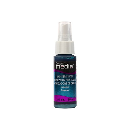 Media Misters 59ml (DecoArt), Shimmer Turquoise
