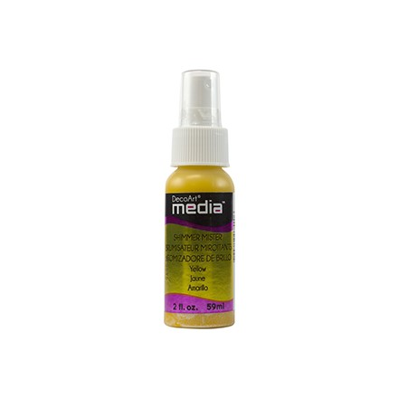 Media Misters 59ml (DecoArt), Shimmer Yellow