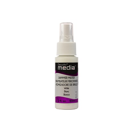 Media Misters 59ml (DecoArt), Shimmer White
