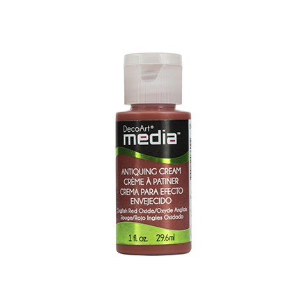 DecoArt Media Antiquing Creams - English Red Oxide