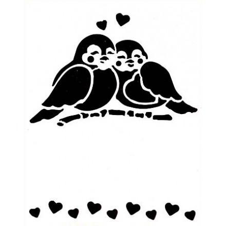 Στένσιλ (Stencil) 15x21cm, Couple of Birds / EF9320716