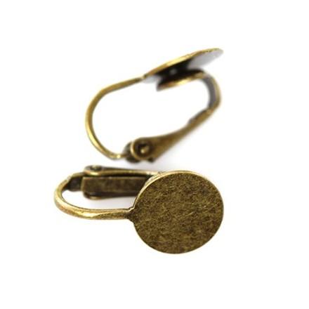 Antique Σκουλαρίκια με Clip & Pad 1.8cm (2 τεμ)
