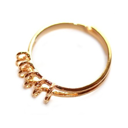 Επίχρυσο (Gold Plated) Δαχτυλίδι με 10 Κολλημένους Κύκλους (1 τεμ)
