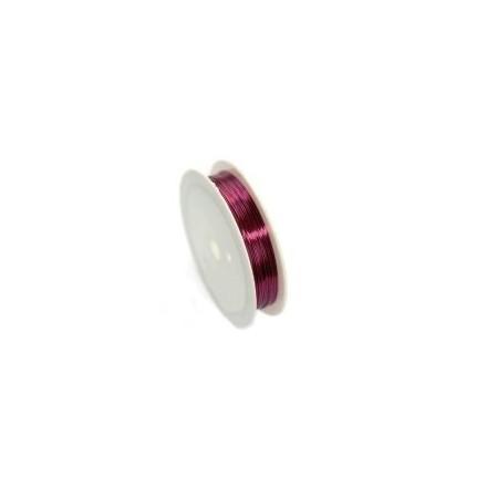 Χάλκινο Σύρμα Ροζ Χρώμα Ø 0.40mm ~17m