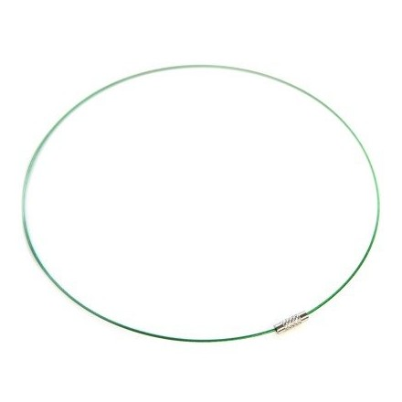 Λαιμαριά από Ατσάλινο Σύρμα 1mm - Πράσινη