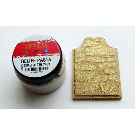TEX.CO Χρυσή Glitter Πάστα (Glitter Gold Paste) 140ml