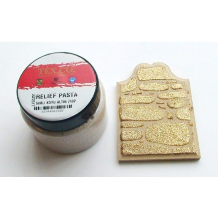 TEX.CO Σκούρα Χρυσή Glitter Πάστα (Glitter Dark Gold Paste) 140ml