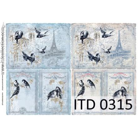 Χαρτί για Decoupage ITD 60gr, 30 x 42cm