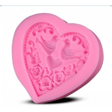 Καλούπι Σιλικόνης 6,8 x 6,2 x 1,4cm, Καρδιά/Πιτσουνάκια