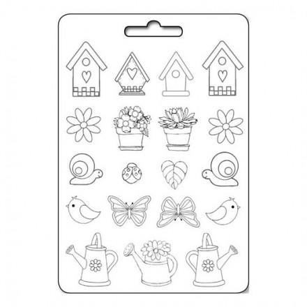 Καλούπι Soft Maxi Mould A4 Stamperia, Garden
