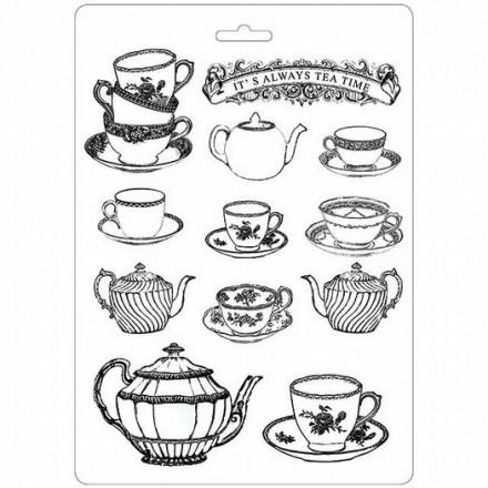 Καλούπι Soft Maxi Mould A4 Stamperia, Tea Time