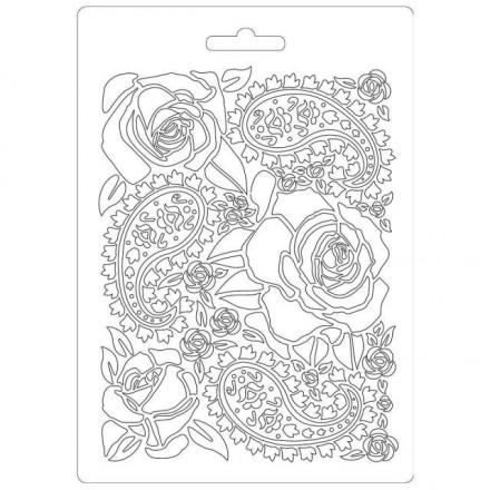 Καλούπι εύκαμπτο A5, 15x21cm, Stamperia, Roses