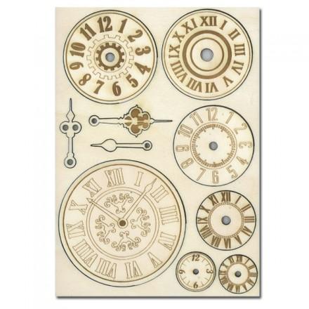 Σετ Ξύλινα Διακοσμητικά Stamperia A5 , Mechanisms and Watches