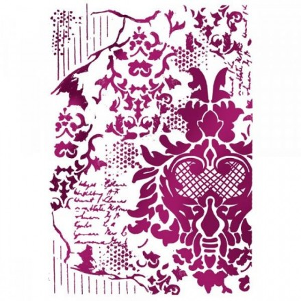 Στένσιλ (Stencil) Stamperia 21x29.7cm, Decoration with Writings / KSG405
