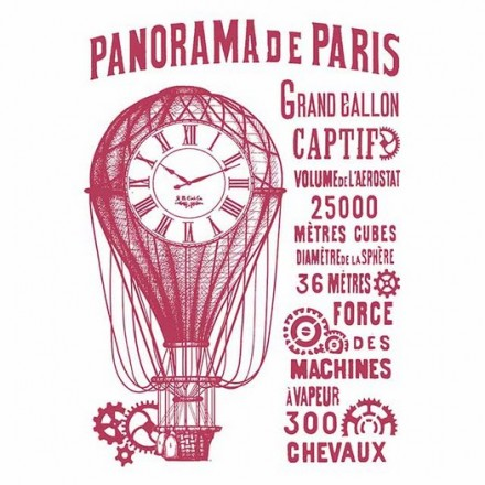 Stencil G Stamperia 21x29.7cm,Panorama de Paris