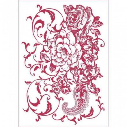 Στένσιλ (Stencil) Stamperia 21x29.7cm, Ramage Floreale / KSG432