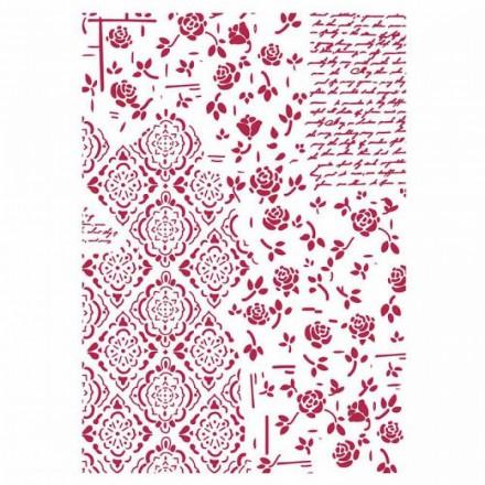 Στένσιλ (Stencil) Stamperia 21x29.7cm, Roses and Decorations / KSG439