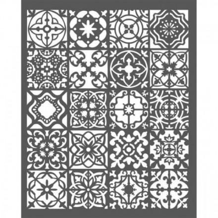 Thick Stencil Stamperia 20x25cm / 0,5mm, Azulejos