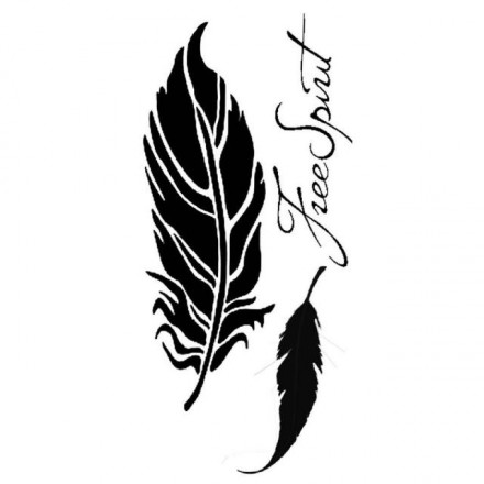 Thick Stencil Stamperia 12x25cm / 0,5mm , Feathers