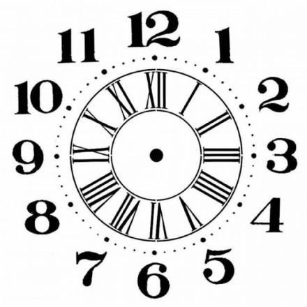 Mix Media Χονδρό Στένσιλ (Stencil) Stamperia 18x18cm, Clock / KSTDQ06
