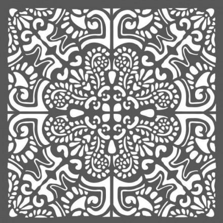 Mix Media Χονδρό Στένσιλ (Stencil) Stamperia 18x18cm, Azulejos Piastrella2 / KSTDQ26