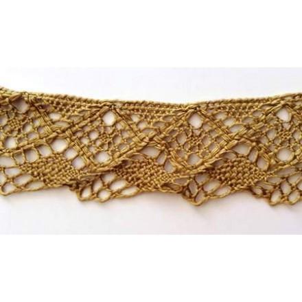 Δαντέλα Βαμβακερή Χρυσή/Λαδί (4.5cm x 1m)