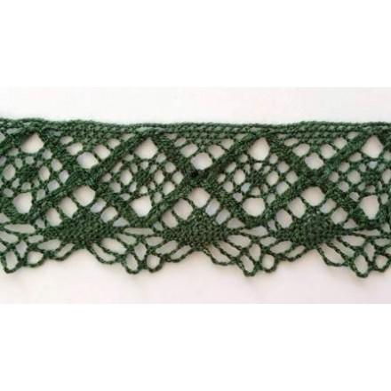 Δαντέλα Βαμβακερή Πράσινη (4.4cm x 1m)