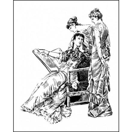 Foam Backing Σφραγίδα Σιλικόνης 8cm x 10cm - Three Ladies