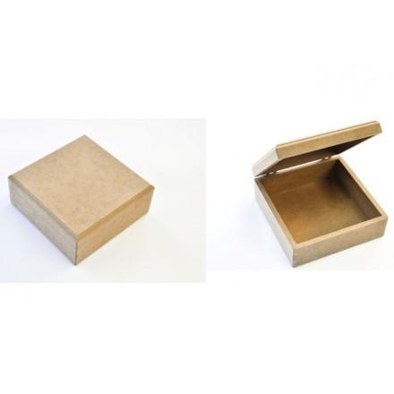 MDF τετράγωνο Κουτί 16x16x7cm