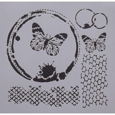 Στένσιλ (Stencil) Decostar 25x25cm / MIX003