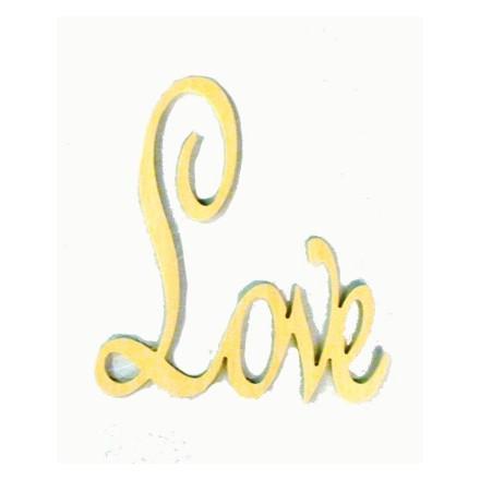 Chipboard Ξύλινο 17x20cm, Love, Ελληνικό προϊόν