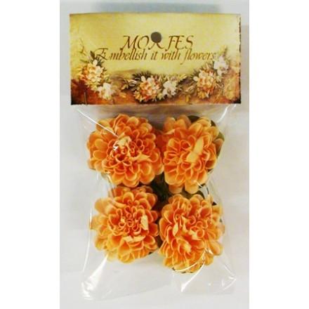 Σετ Χάρτινα Διακοσμητικά Λουλούδια (Σομόν Χρυσάνθεμα, 4τεμ)