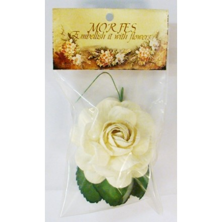 Χάρτινα Διακοσμητικά Λουλούδια (Μεγάλο Λευκό Τριαντάφυλλο)