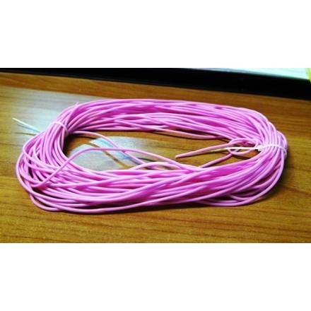 Κορδόνι από καουτσούκ 2mm (1m) - Ροζ