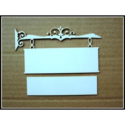 Διακοσμητικά Chipboard (12cm x 6,5cm)