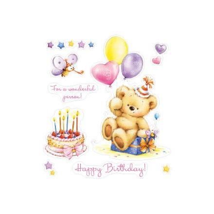 Σφραγίδα Σιλικόνης (10 x 11cm) - My little Bear Birthday Party