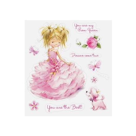 Σφραγίδα Σιλικόνης (10 x 11cm) - Princess