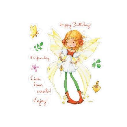 Σφραγίδα Σιλικόνης (10 x 11cm) - Fairy Birthday