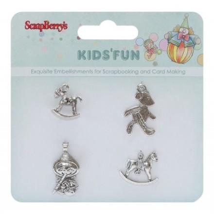 Σετ Μεταλλικά Αντικείμενα (Kids' Fun, 4τεμ)