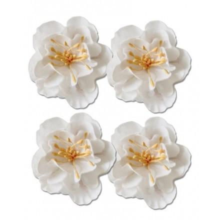 Σετ Διακοσμητικά Λουλούδια (White, 4τεμ)