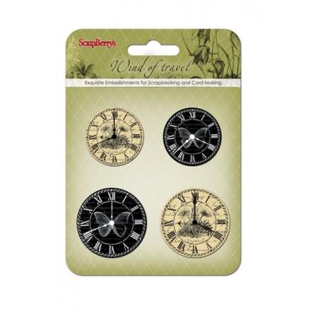 Διπλόκαρφα (black and beige clocks, 4τεμ)